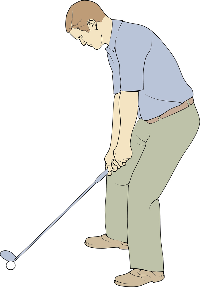 Illustration 2 for the book Pocket Pro Golf- illustration by Cambridge illustrator Richard Bowring