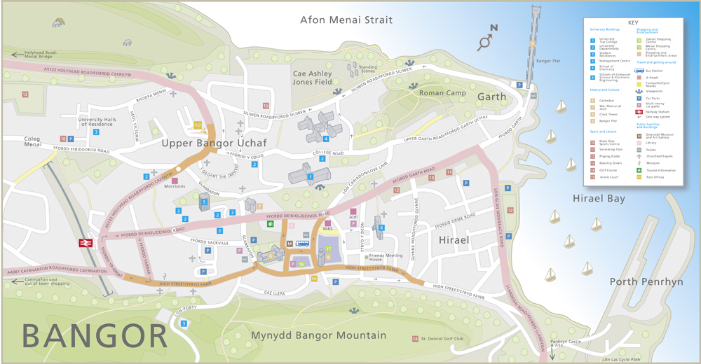 Map of the City of Bangor