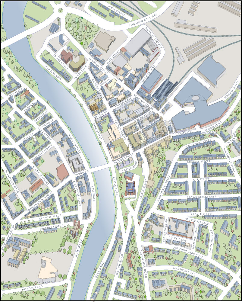 Technical illustration for The City of Inverness Richard Bowring