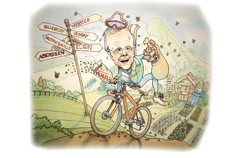 Cartoon caricature of London based Company Director