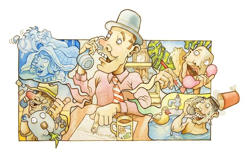 Watercolour Illustration for BP Global Graduate Recruitment