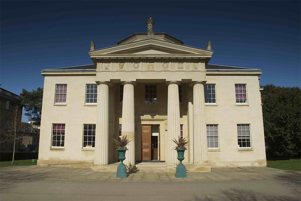 Architectural photography of Downing College Cambridge by cambridge photographer Richard Bowring