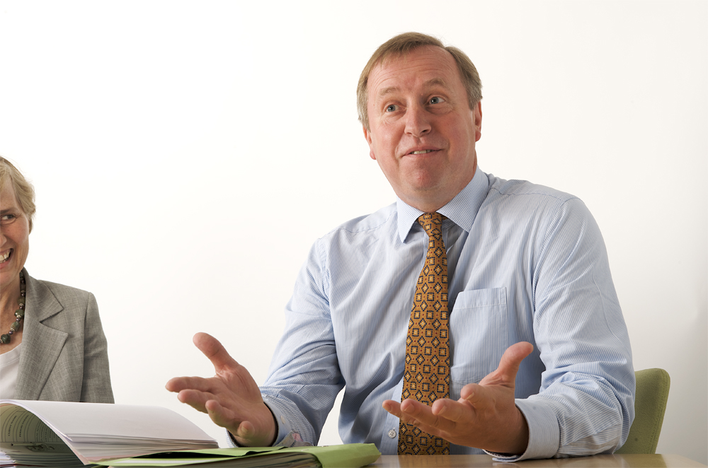 Portrait of director of local accountancy firm by cambridge photographer Richard Bowring