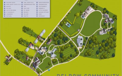 Illustrated map for the Delrow Community