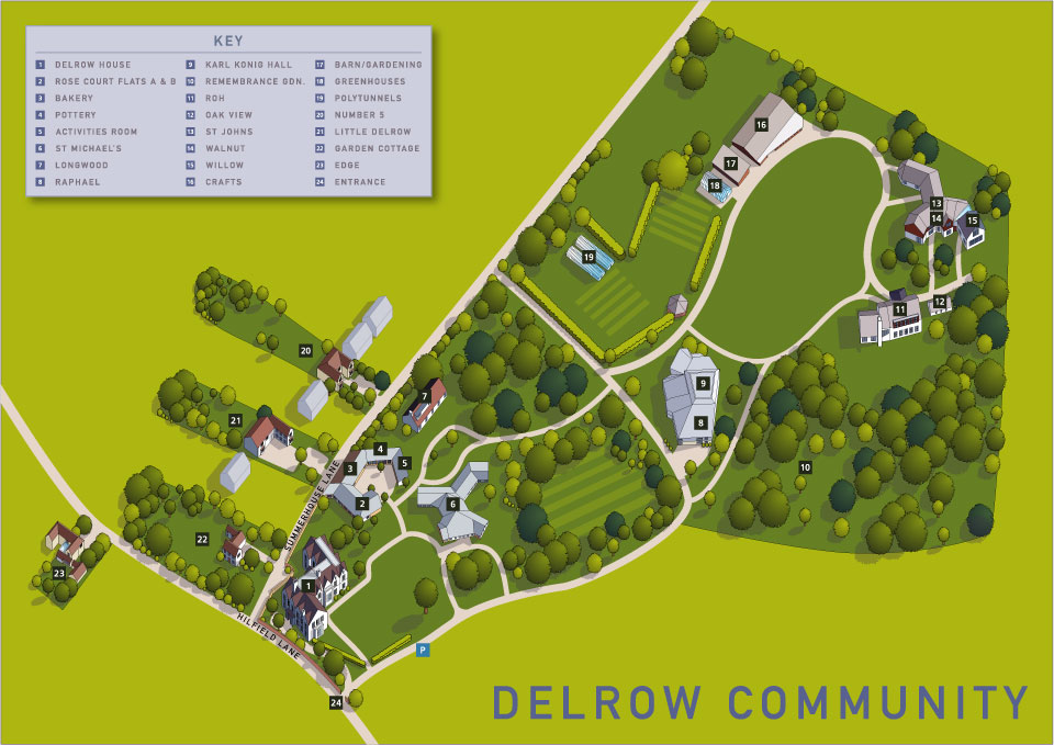 Aerial view of the Delrow Community near watford