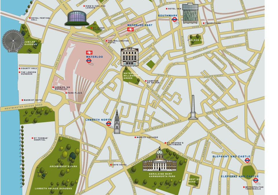 Illustrated map of Waterloo