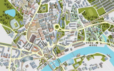 Map of Newcastle City Centre