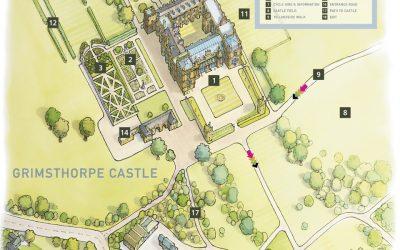 Map illustration of Grimsthorpe Castle