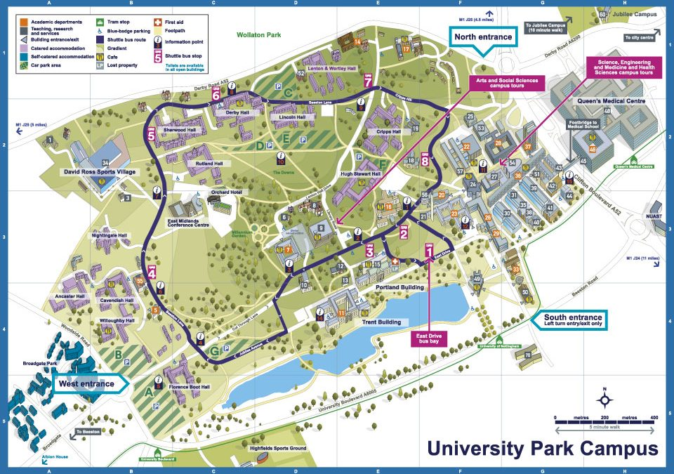 New illustrated maps for Nottingham University