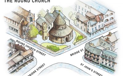 Illustrated maps for the Round Church Cambridge