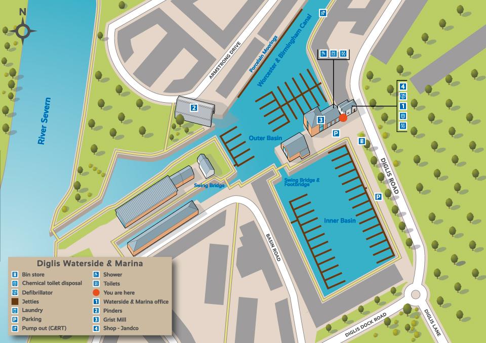 Illustrated map of marina