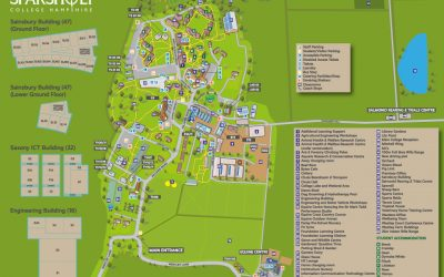 New illustrated map of Sparsholt College